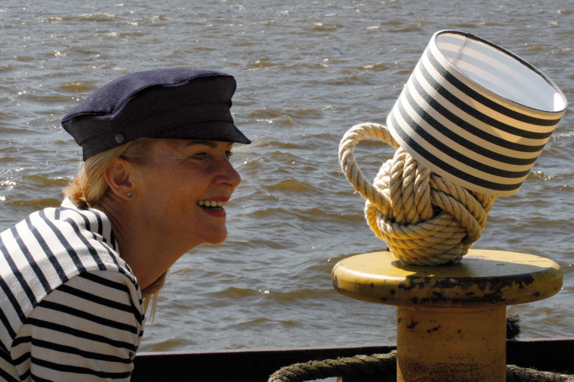 Seemannsknoten als Lampe